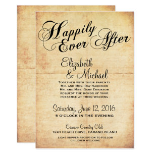 Happily ever after wedding invitations zazzle happily ever after fairytale wedding invitation filmwisefo