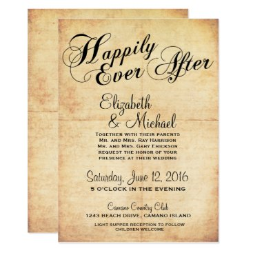 ericksondesigns Happily Ever After Fairytale Wedding Invitation