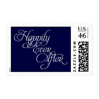 Happily Ever After Fairytale Wedding Stamp