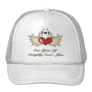 Happily Ever After First Wedding Anniversary Cap Hats