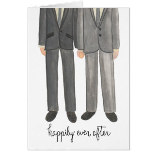 Happily Ever After Gay Couple greeting card