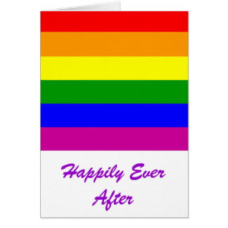 Happily Ever After/Gay Wedding Greeting Cards