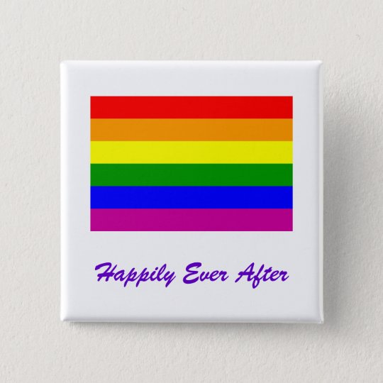 Happily Ever After/Gay Wedding Pinback Button