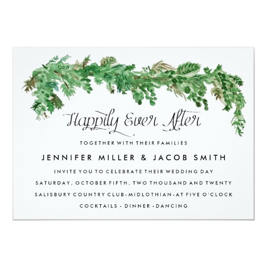Happily Ever After Greenery Wedding Invitation | Zazzle.com  Happily Ever Af...