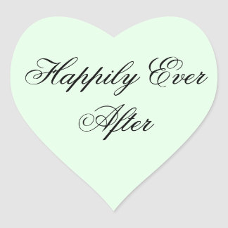 Happily Ever After Heart Sticker