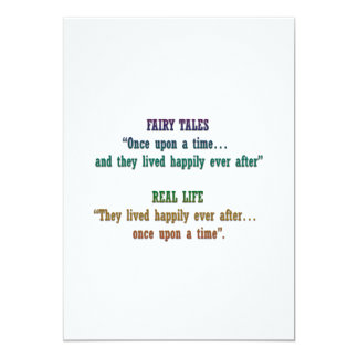 Happily ever after announcement card
