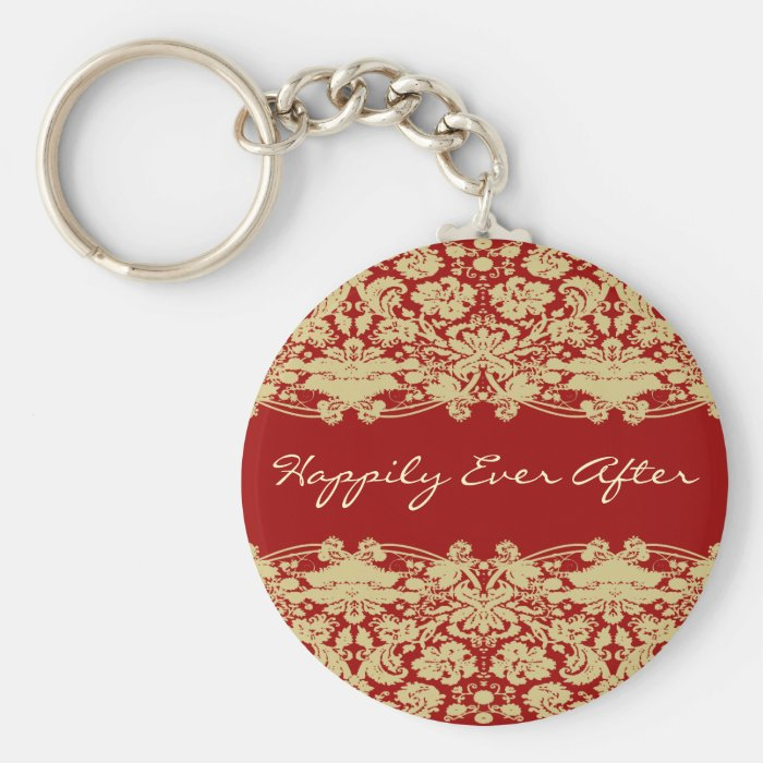 Happily Ever After KeyChain-Personalizable Text  Keychain