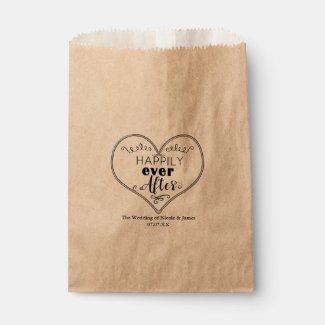 Happily Ever After Modern Fairy Tale Wedding Favor Favor Bag