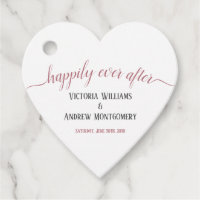 Happily Ever After Modern Rose Gold Script Wedding Favor Tags