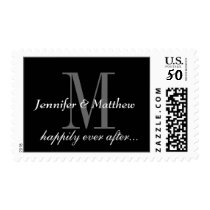 Happily Ever After Names  Wedding Postage Stamps