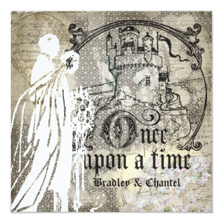 """Happily Ever After Once Upon a Time Invitation 5.25"""" Square Invitation Card"""