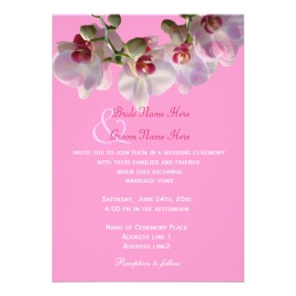Happily ever after orchids wedding invitations