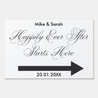 Happily Ever after Outdoor wedding yard sign