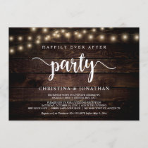 Happily Ever After party,  String Ligh, Elopement Invitation