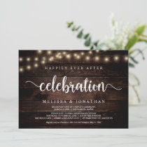 Happily Ever After Party, String Light, Elopement Invitation