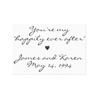Happily Ever After Personalized Canvas Print