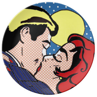 Happily Ever After Pop Art Porcelain Plate