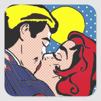 Happily Ever After Pop Art Stickers