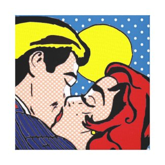 Happily Ever After Pop Art Stretched Canvas Canvas Print