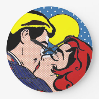Happily Ever After Pop Art Wall Clock