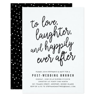 Charming Happily Ever After Post Wedding Brunch Invitation