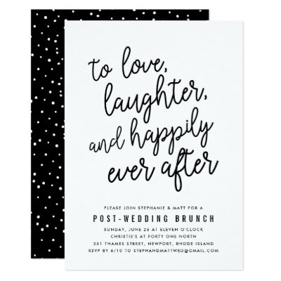 Superieur Post Wedding Brunch Invitations | Zazzle.com