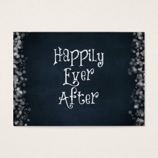 Happily Ever After Quote Business Card