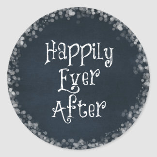 Happily Ever After Quote Classic Round Sticker