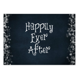Happily Ever After Quote Large Business Card