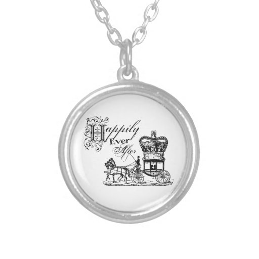 Happily Ever After Quote Necklace