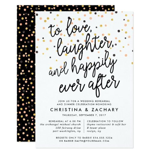 Happily Ever After Rehearsal Dinner Invitation