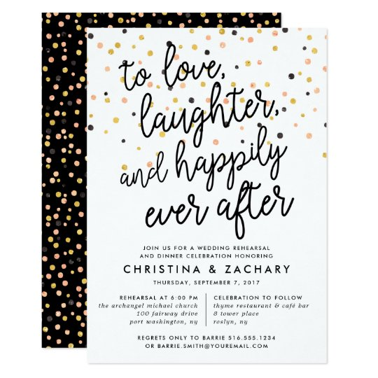 Happily Ever After  Rehearsal Dinner Invitation  ZazzleCom