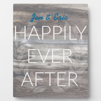 Happily Ever After Rustic Wood Design Plaque