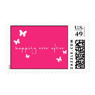 Happily Ever After stamp with butterflies
