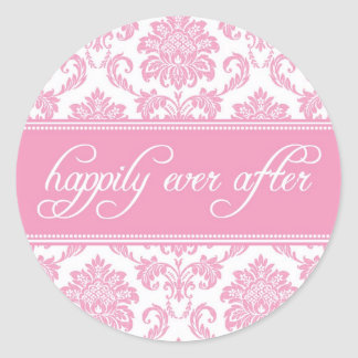 Happily Ever After Sticker in Pink