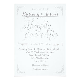 Happily Ever After Wedding Invitations Announcements Zazzle