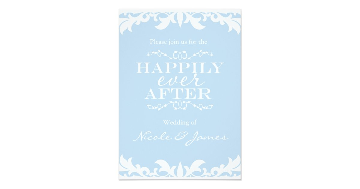 Storybook Wedding Invitation: HAPPILY EVER AFTER Storybook Wedding Invitation