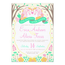 Happily Ever After Unicorn Wedding Invitation