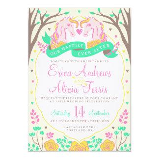 Happily Ever After Unicorn Wedding Invitation