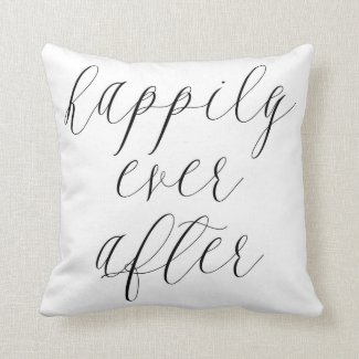 Happily Ever After Valentine Throw Pillow