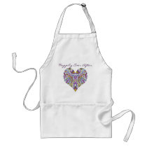Happily Ever After Vintage Paisley Adult Apron