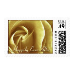 Happily Ever After Warm Gold Rose Custom Stamp