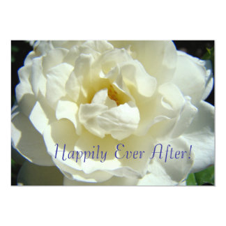 """Happily Ever After! Wedding Announcement Marriage 5"""" X 7"""" Invitation Card"""