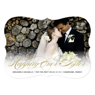 Happily Ever After Wedding Announcement Photo Card