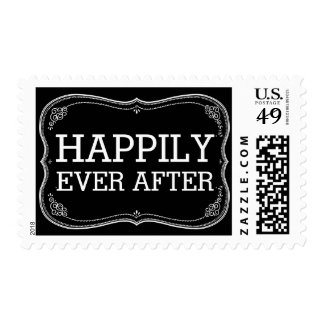 Happily Ever After Wedding Chalkboard Postage
