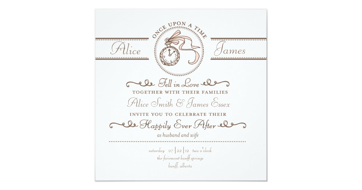 After Wedding Invitation Wording: Happily Ever After Wedding Invitation