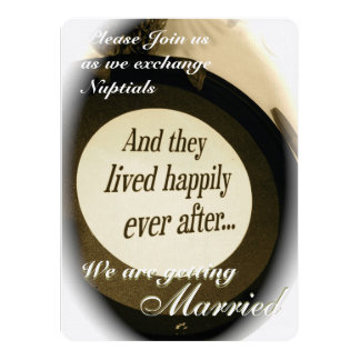 """""""Happily Ever After"""" Wedding Invitation 5.5"""" X 7.5"""" Invitation Card"""