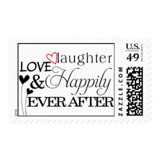 Happily Ever After Wedding Love Stamp