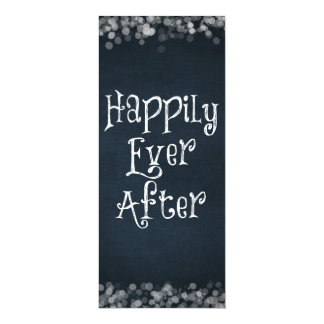 Happily Ever After Wedding or Anniversary Blank Card