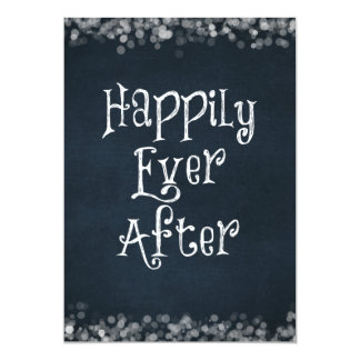 Happily Ever After Wedding or Anniversary Blank 5x7 Paper Invitation Card